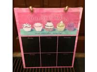 Pink cake chalk board