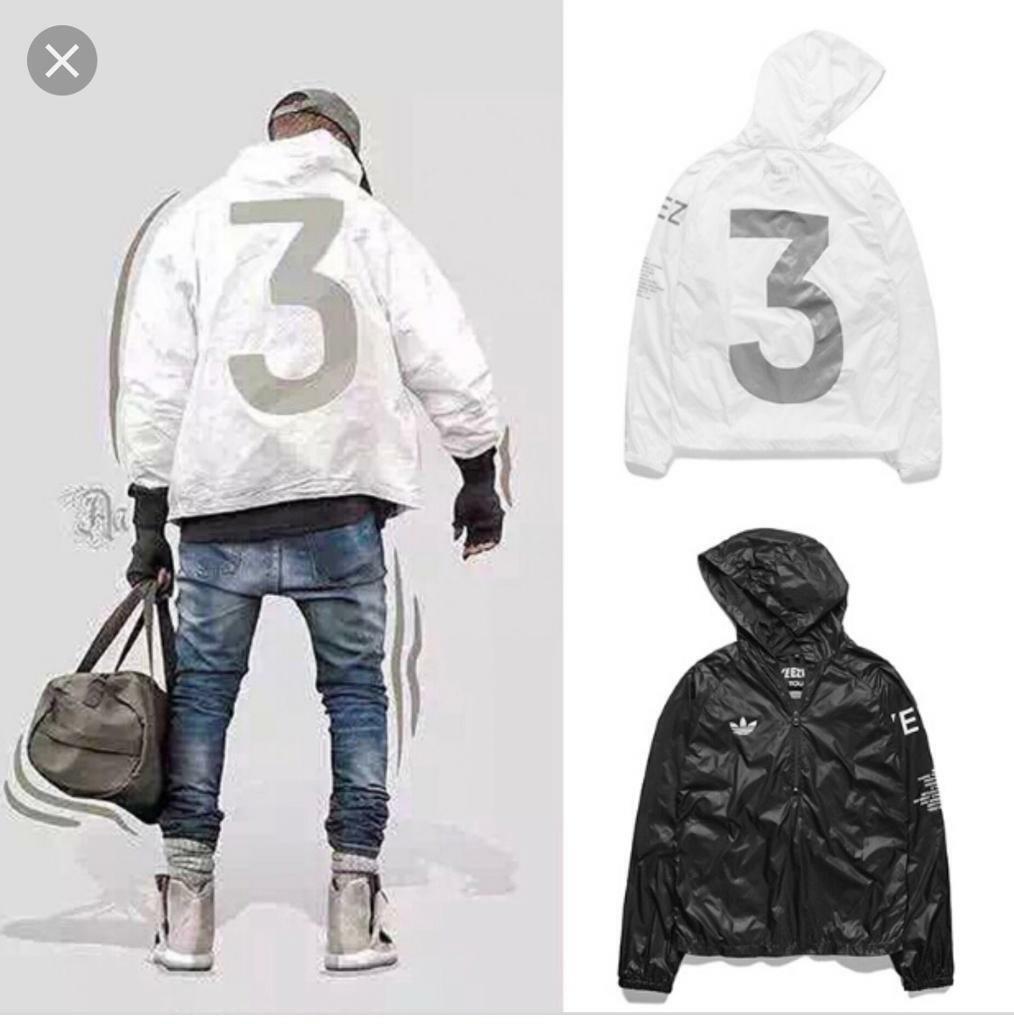 Adidas yeezy 3 light summer jackets black & white | in Erdington, West Midlands | Gumtree