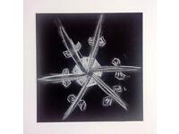 Original Art Snow Crystal 3 Self Representing Artist
