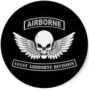 Us army 101st airborne skull wings military vinyl decal for 101st airborne window decals