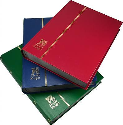 "Wessex Knight 32/64 side Black Page Stamp Stockbooks, 'A4' size (12"" X 9"")."