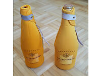 2 x Veuve Cliquot Champagne Coolers Sleeves - Picnic Bottle Holder Jacket