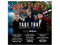 2 Take That Tickets Seated together..Manchester 26 May ..plus Travelodge overnight stay