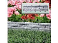 Brand new garden edging-grey brick wall effect