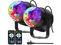 NEW RGB Disco Party Light with Remote x 2