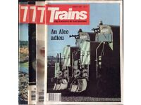 """196 ISSUES OF THE AMERICAN RAILWAY MAGAZINE """"TRAINS"""" FOR SALE"""