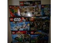 8 Lego sets - brand new in sealed boxes - can be bought as collection or individually