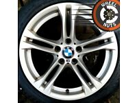 "##CHEAP## 18"" Genuine BMW 5 series M Sport alloys staggered fit fair condition."