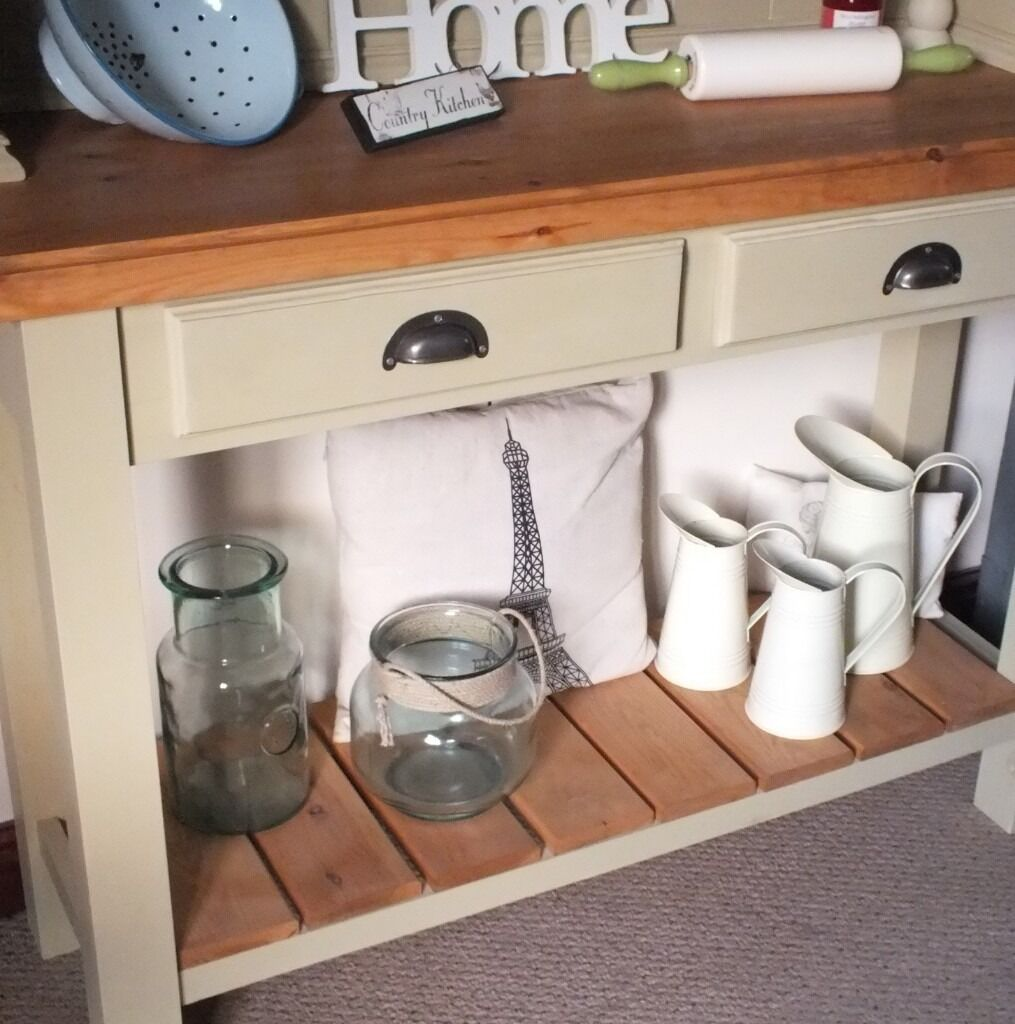 French Country Kitchen Dresser solid rustic vintage french style country pine & oak farmhouse