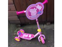 Peppa pig 3 wheeled scooter - excellent condition
