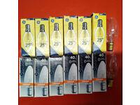 12 25w / 40w sbc/ b15 light bulbs new