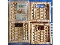 Small Wicker Storage Baskets x 4