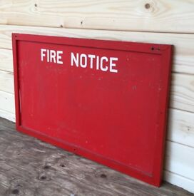 Vintage Original Fire Station Notice Memo Board