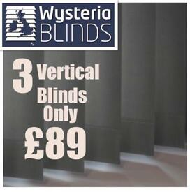 BLINDS. 3 for £89