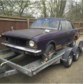 Cortina MK2 1600E restoration project 1969