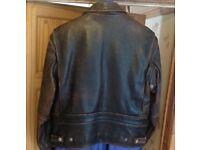 Brown Leather HARLEY DAVIDSON jacket.vgc.size Med 40/42