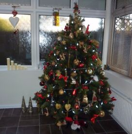 6ft artificial Christmas tree, purchased at Huntingdon Garden & Leisure.