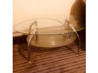 Glass coffee table ideal size