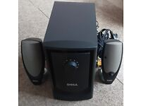 DELL ZYLUX MULTIMEDIA COMPUTER SPEAKER SYSTEM POWERED BY SUBWOOFER.