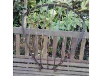 Vintage corner hay rack