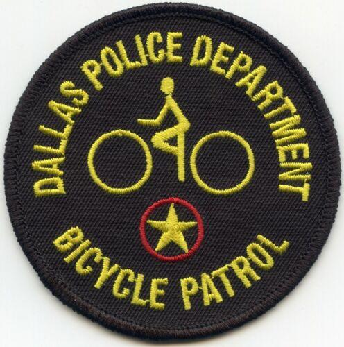 DALLAS TEXAS TX BICYCLE PATROL BIKE POLICE PATCH