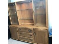 Ercol sideboard and display cabinet