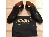 EXCLUSIVE MAURI MENS DESIGNER CROCODILE LEATHER SHOES - SIZE 9 (43) - BNIB