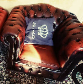 Leather Chair Chesterfield Club Style