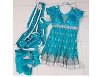 Asian Blue dress suit