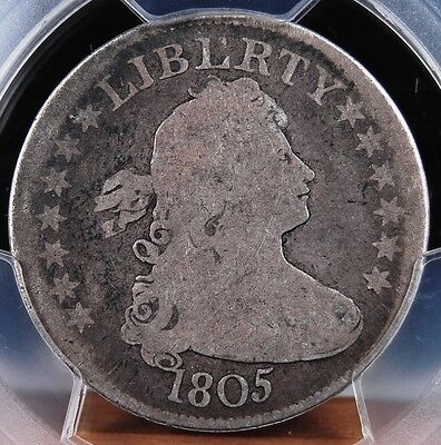 1805 DRAPED BUST QUARTER PCGS GOOD 4 THE PERFECT CIRC ORIGINAL AND VERY CHOICE