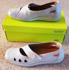 """Ladies Leather Hotter """"Bliss"""" Light Taupe Shoes Size 7.5 RRP. £69!"""