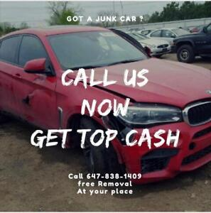 SCRAP CARS REMOVAL|FREE PICK UP AT YOUR LOCATION | CALL/TXT 647-838-1409 WANTED:USED CARS -JUNK CARS-SCRAP CARS