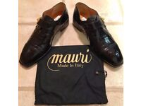 MAURI MENS DESIGNER CROCODILE LEATHER SHOES - SIZE 9 (43) - BNIB