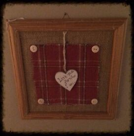 Various one off design framed themes and sentiments..ideal xmas present!