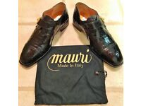 MAURI MENS DESIGNER CROCODILE LEATHER SHOES - SIZE 9 (43) - BNIB - £435 ONO