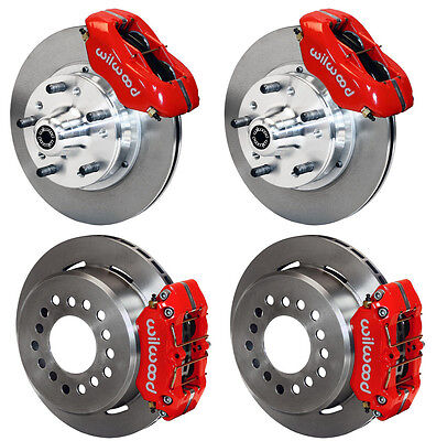 "WILWOOD DISC BRAKE KIT,65-72 CDP C-BODY,11"" ROTORS,RED CALIPERS,LINES,CABLE SET"