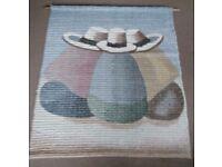 Vintage Peruvian Alpaca Wool Woven Wall Tapestry