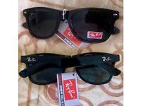 Brandnew Rayban Wayfarer Sunglasses unisex Men's Ladies cheap black glasses new gift