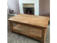 Coffee Table - Rustic - Teak - Driftwood - Chunky