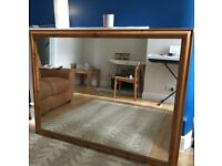 Large pine mirror, fantastic condition, perfect for above a mantlepiece