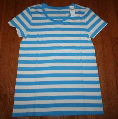 NEW NWT Womens GAP Short Sleeve Crewneck T-Shirt FAVORITE Tee Blue Striped *F7