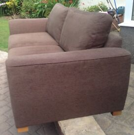 Large sofa/settee in brown cloth - bought from M&S