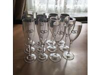 Wedding Polycarbonate champage flutes like glass