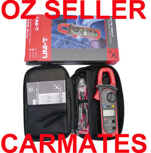 UNI-T-ACA-DCA-AUTO-RANGE-CLAMP-METER-MULTIMETER-UT203-Carrying-bag-OZ-seller