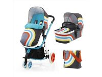 Cosatto 3 in 1 pram , car seat and iso x
