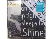 Single duvet cover and pillow case brand new in packet