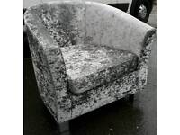 NEW Designer Crushed Velvet Armchairs Modern DELIVERY AVAILABLE