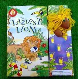Brand New Book and Finger Puppet The Laziest Lion