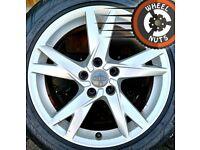 "17"" Genuine Audi A4 alloys Renault Trafic Vivaro perf cond excel tyres."