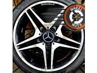 "18"" Genuine AMG Mercedes A Class alloys Golf Caddy Leon fair cond Pirelli P Zero tyres."